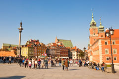 Castle square in Warsaw, Poland Royalty Free Stock Photography