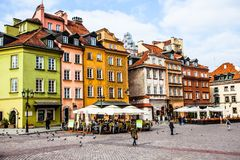 Castle Square in Warsaw, Poland Royalty Free Stock Photos