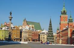 Castle square of Warsaw, Poland, palace, king Sigismund column Royalty Free Stock Images