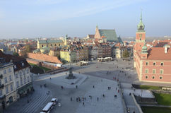 Castle Square in Warsaw, Poland Stock Photos