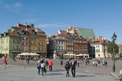 Castle square in Warsaw, Poland - tourists Stock Image