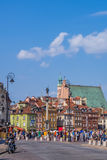 The Castle Square in Warsaw Stock Images