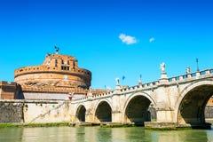 Castle ST Angelo και γέφυρα στη Ρώμη, Ιταλία Στοκ φωτογραφίες με δικαίωμα ελεύθερης χρήσης