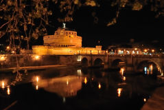 Castle of St Angelo. Castle of St Angelo by night, Rome, Italy Royalty Free Stock Image