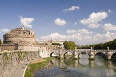 Castle St. Angelo in Rome royalty free stock images