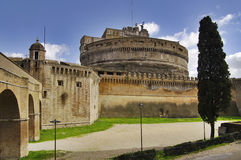Castle St. Angelo in Rome, Italy. stock photos