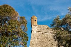 San Giorgio Castle - La Spezia Liguria Italy. Castle of St. George Castello San Giorgio 1265-XIX century, Genoan military fortification in La Spezia, Liguria stock photos