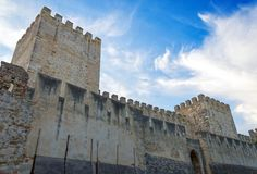 Castle of St. George. Castle of St. George in Lisbon, Portugal stock photos