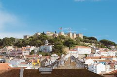 Castle of St. George. Castle of St. George in Lisbon, Portugal royalty free stock photos