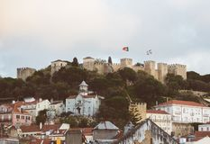 Castle of St. George. Castle of St. George in Lisbon, Portugal stock images