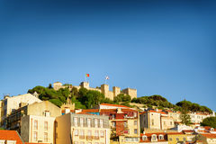 The Castle of St. George in Lisbon, Portugal. Royalty Free Stock Image