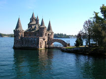 Castle on St. Lawrence river, Canada Stock Photos