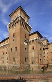 Castle of St. Michael - Castello Estense in Ferrara. Italy Royalty Free Stock Images