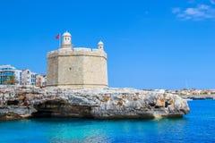 Castle of St. Nicholas at the Ciutadella Stock Photos