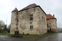 Castle. Of St. Nicholas in rainy weather stock photography