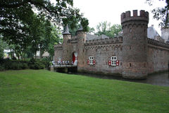 Castle (St. Oederode) and its surroundings in the Netherlands Royalty Free Stock Images