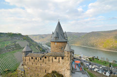 Castle Stahleck above the rhine, Bacharach, Stock Image