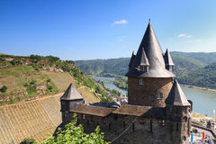 Castle Stahleck above the rhine valley. Bacharach, Germany stock images