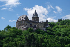 Castle Stahleck above the rhine valley, Bacharach Stock Photography