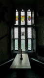Castle Stain Glass Window Royalty Free Stock Photos