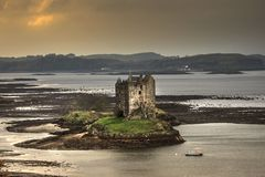 Stalker Castle, Scotland. royalty free stock images