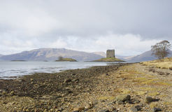 Castle Stalker in late autumn Royalty Free Stock Photos