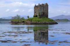 Castle stalker loch linnhe landscape scotland Royalty Free Stock Photo