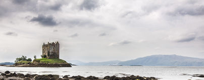 Castle Stalker. In Scotland, view from a shore Royalty Free Stock Photography
