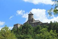 Castle in Stara Lubovna. Medieval Stara Lubovna castle on the hill in Slovakia stock image