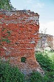 Castle in Stare Selo. The old wall of red brick in an old castle in the Stare Selo, close to the Lvov city (Ukraine). Built 15th century Stock Images