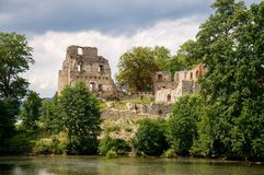 Castle Stary Rybnik. The ruins of the castle Stary Rybnik near Cheb in the Czech Republic Stock Images