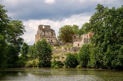 Castle Stary Rybnik. The ruins of the castle Stary Rybnik near Cheb in the Czech Republic Stock Photo