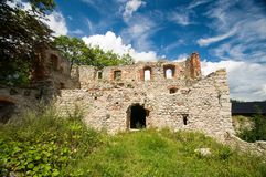 Castle Stary Rybnik. The ruins of the castle Stary Rybnik near Cheb in the Czech Republic Stock Photos