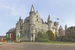 Castle Steen in  Antwerp Royalty Free Stock Photography