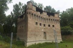 Castle of Stellata (Ferrara). Medieval castle of Stellata (Ferrara, Emilia-Romagna, Italy Royalty Free Stock Photos