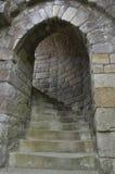 Castle Steps. Stone Steps at Warkworth Castle, England Stock Images