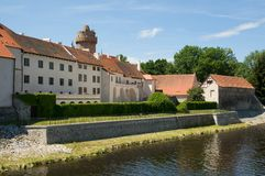 Castle Strakonice, Czech Republic. Castle Strakonice and river Otava in the Southern Bohemia,Czech Republic stock photos
