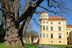 Castle Straznice,Czech republic. The major sights in Straznice town include the chateau with the exposition of folk music instruments Royalty Free Stock Images