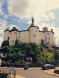 Castle. A castle in street, in Clervaux, Luxembourg. Photo taken with mobile photo camera Stock Images