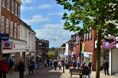 Castle Street in Hinckley England. A view from the Castle Street in Hinckley, Leicestershire, England stock photo