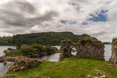 Castle Strome ruins with Loch Carron, Scotland. Stock Photo