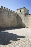Castle structure in Lisbon, Portugal. Stock Photo