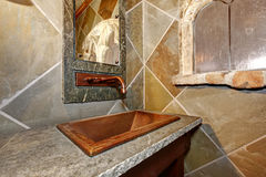 Castle style bathroom Stock Photography