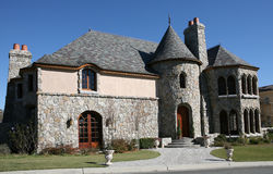 Castle Style Home stock photography