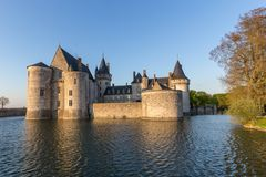 Castle Sully-sur-Loire, France Waterside royalty free stock images