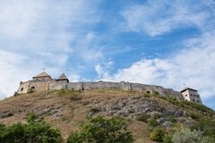 Castle of Sumeg on hilltop, Hungary. Castle of Sumeg on hilltop in Hungary Royalty Free Stock Image