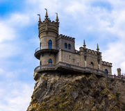 Castle swallow nest in Crimea. The castle on the cliff - the swallow's nest in Crimea Royalty Free Stock Image