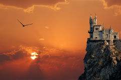 Castle Swallow's Nest stock photography