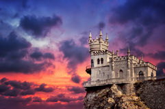 Castle Swallow's Nest. The well-known castle Swallow's Nest near Yalta Stock Image