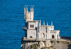 Castle Swallow`s Nest in the Black Sea, Crimea Royalty Free Stock Image
